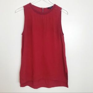Madewell Sleeveless Burgundy Top Sz Xs
